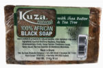 Kuza African Black Soap With Shea Butter And Tea Tree 114g